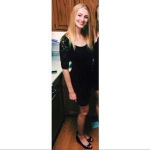 Lacey three quarter sleeve bodycon formal dress